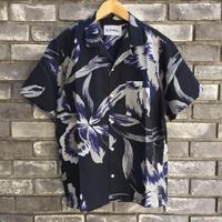 【NOMA t.d.】Summer Shirt - Floral  Black ノーマ サマーシャツ フローラル