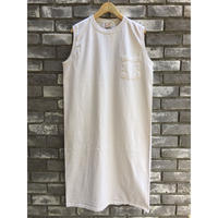 【Goodwear】 Sleeveless Onepiece Long Natural ノースリーブ ワンピース