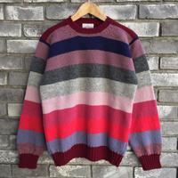 【Jamieson's】Crew Neck  Sweater Border Pink ジャミーソンズ クルーネック セーター ボーダー ニット