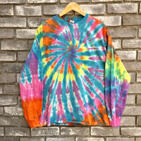 【INSPIRING COLOR TIEDYE × LILY】 Tie-Dye Long Sleeve Blue XLサイズ タイダイ ロンT