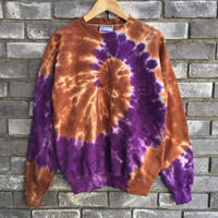 【INSPIRING COLOR TIEDYE × LILY】 Tie-Dye Sweat brown × purple タイダイ スウェット USA