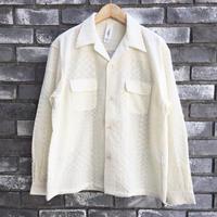 【niche.】 Crazy Lace Open Collar Shirts レース オープンカラーシャツ ニッチ