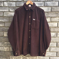 【Caltop】 Corduroy LS Shirt solid Brown カルトップ コーデュロイ シャツ