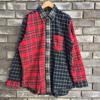 【CLEVE】 Dead Stock Flannel Shirt クリーヴ フランネルシャツ クレイジーパターン デッドストック  A