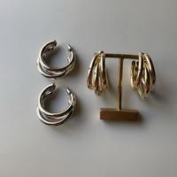 metal trinity hoop pierce