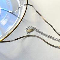 【silver925 】snake chain choker necklace (flat type)