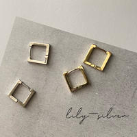 【silver925】square pierce