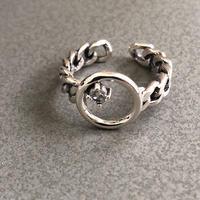 silver925 linestone ring