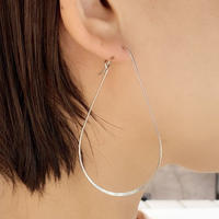 metal big drop hoop pierce