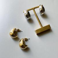 metal plump drop pierce (silver925 stud)