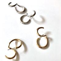metal double hoop ear cuff pierce(silver925 stud)