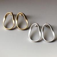 drop circle metal pierce(silver925)