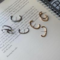 metal line stone pierce set