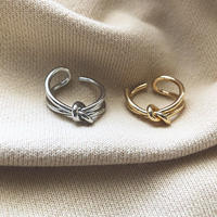 metal knot design ring