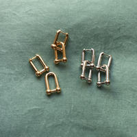 metal U字chain pierce