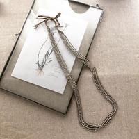 brass long necklace