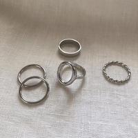 metal simple ring set