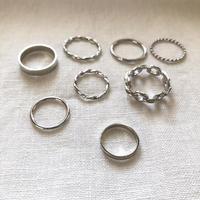 metal simple 8 ring set