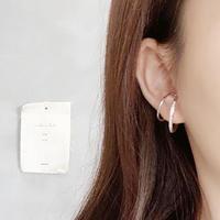 【silver925 】line stone  ear cuff