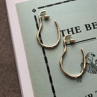 metal gold pierce cuff 02