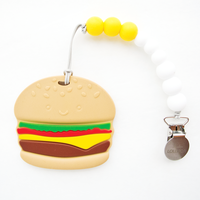 【loulou LOLLIPOP】teether  歯固め    バーガー+ホルダー