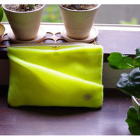 NEON VELVET DRAPED RECTANGLE POUCH
