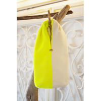 TWIST BAG-NEON VELVET+ORGANIC COTTON TWILL