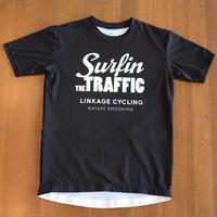 バックポケット付サイクリングTシャツ LCT7 black