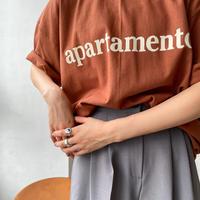 ♢予約販売♢apartamento ロゴTシャツ/2color (unisex)_lt0742