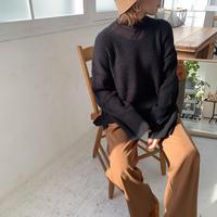 ♢予約販売♢Vネックスリットニット/2color_lt0540