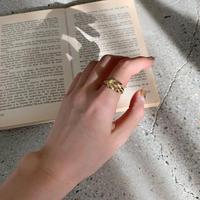 ♢予約販売♢silver925(18k)ツイスト ring_la0052