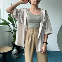 シアーサテンハーフシャツ/2color_lb0017