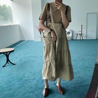 2pieceショルダーベルトスカート/2color