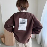 ♢予約販売♢ original Link ラベルスウェット(unisex)/ブラウン_lt0199