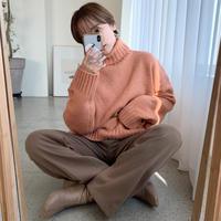 ♢予約商品♢ハイネックルーズニット/3color_lt0217