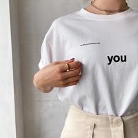 """♢予約販売♢""""you"""" Tシャツ/3color_lt0724"""