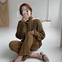 ♢予約販売♢ネックアンバランスニット/2 color_lt0116