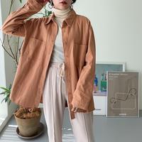 フリンジシャツ/2color_lt0071