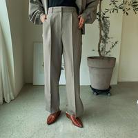 ♢予約販売 ♢Link original スリットスラックスパンツ/カーキpants_lp0097