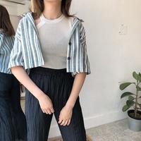 ストライプシャツ /2color