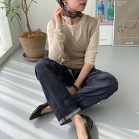 ♢予約販売♢ウエストマークニットベスト/2color_lt0065