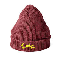 LINKY Logo Knit-Cap(Burgundy)