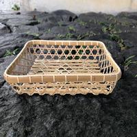 佐渡 竹製 六ツ目かご(正方形)