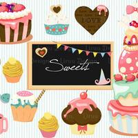 イラストテンプレート「Sweets」