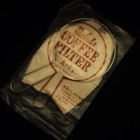 珈琲抽出用ネル : 手付金具+ネルフィルター3枚 セット