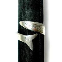 秋刀魚のシルバーフリーリング