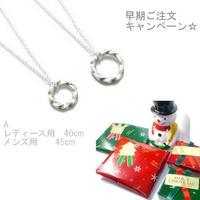 早期ご注文キャンペーン☆A  クリスマスプレゼント用 シルバーペアネックレス