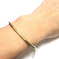 真鍮製 槌目リング ブレスレット  Sサイズ