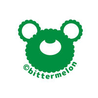 bittermelo Sticker (face green)
