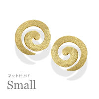 K18 UZUMAKI ピアス Small【マット仕上げ】